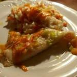 Pieczona ryba z warzywnym risotto