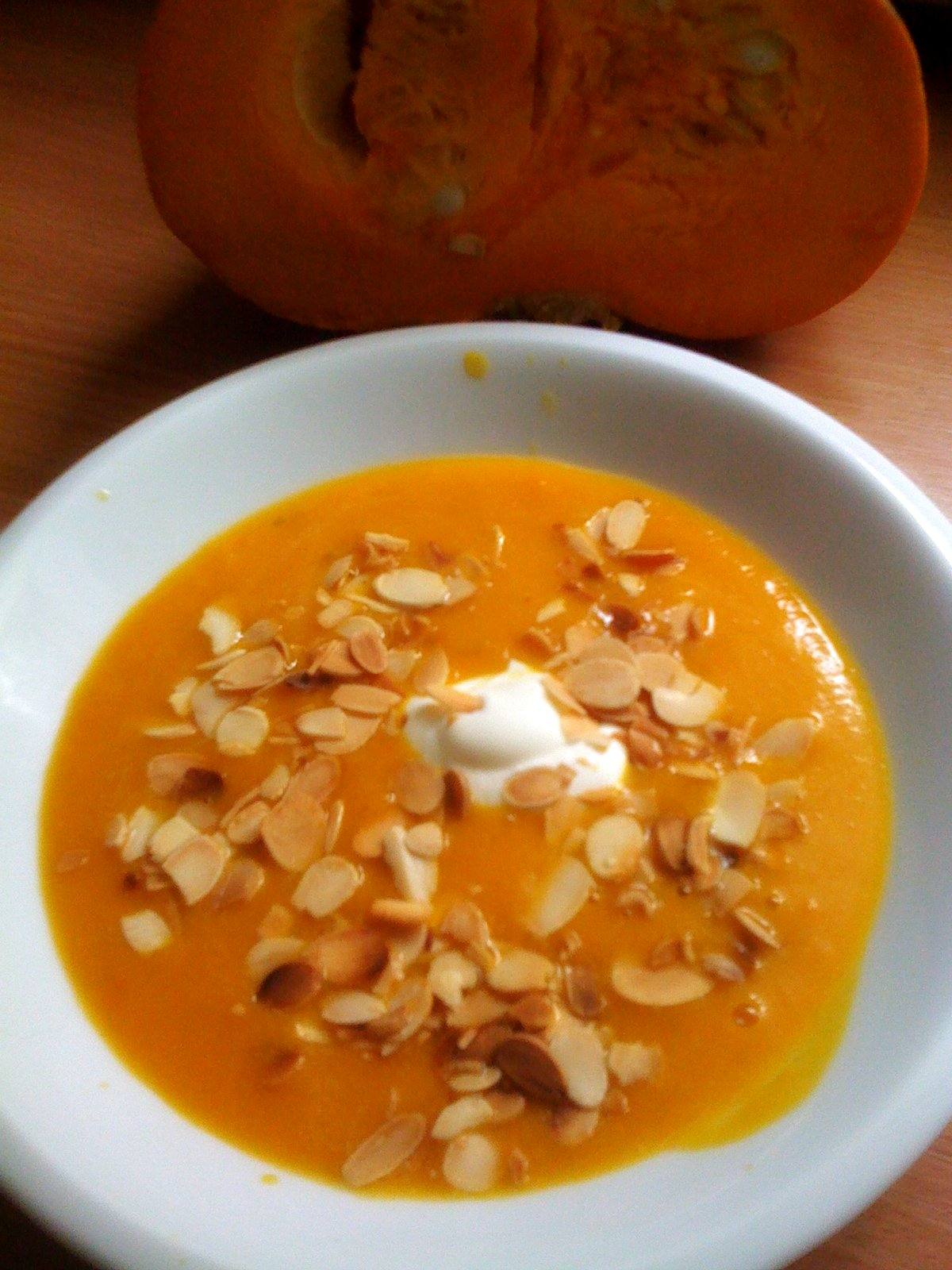 Zupa z dyni (krem) + dyniowa zakąska