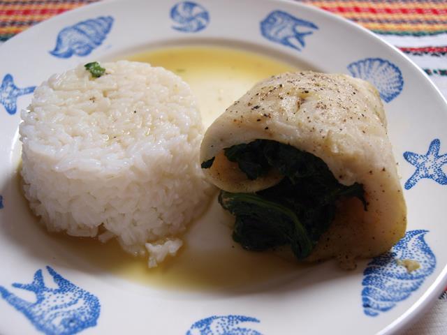Wspaniałe roladki z ryby faszerowane szpinakiem
