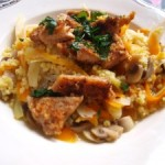 Kasza z warzywami po marokańsku z kawałkami mięsa