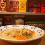 Kremowa zupa z mięskiem i musztardą w proszku