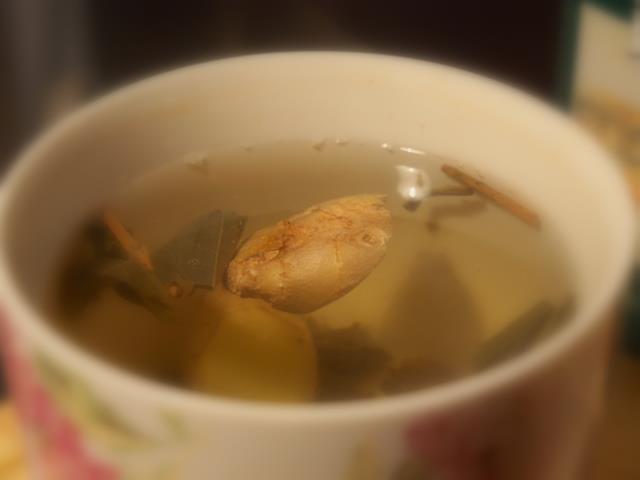 Herbata zielona z imbirem