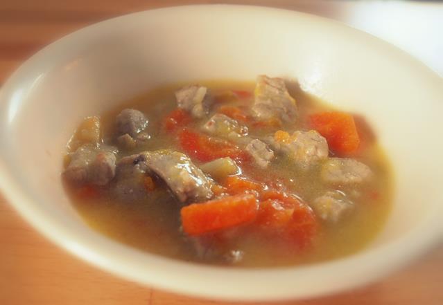 Gulasz z polędwiczki z warzywami
