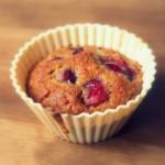 Muffinki owsiane z czereśniami
