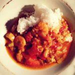 Curry z krewetkami i indykiem