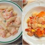 Krewetki czyli jeden z najbardziej wdzięcznych i inspirujących składników w kuchni na przykładzie makaronów w dwóch stylach
