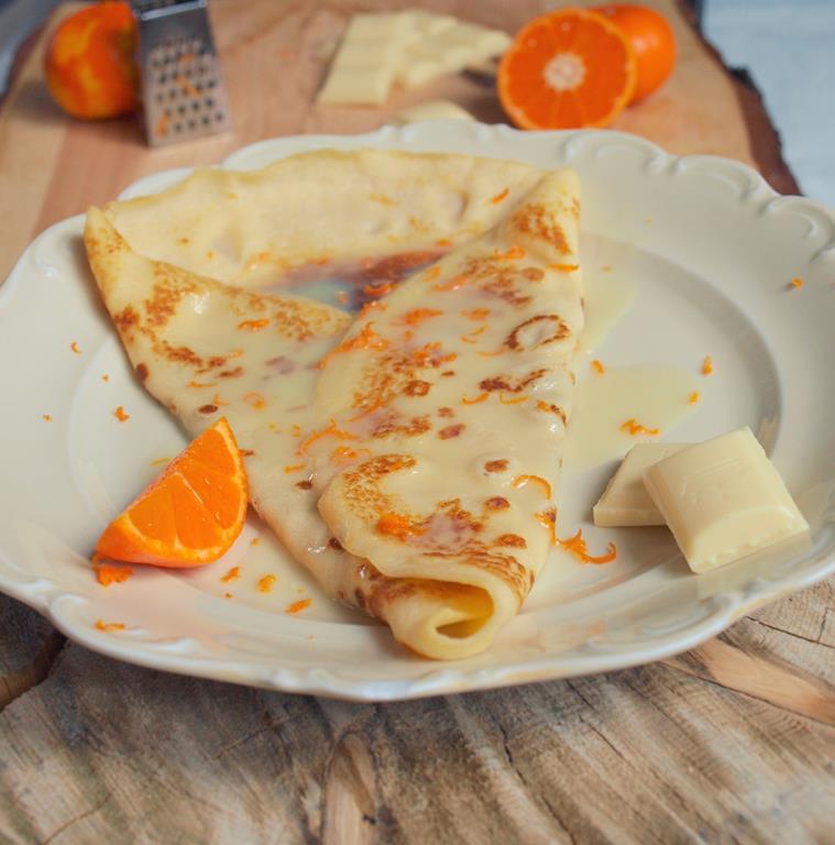 Obłędneee naleśniki francuskie z białą czekoladą i pomarańczą