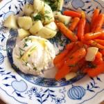 Wczesnowiosenny najprostszy obiad z jajkiem i warzywami