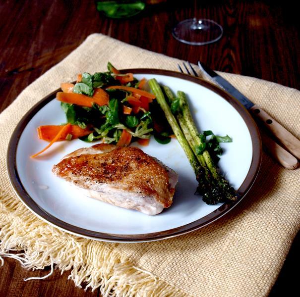 Idealna, niesucha, prosta, 15sto minutowa pierś z kurczaka po francusku