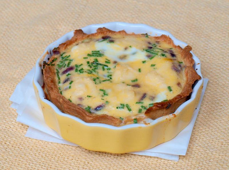 Quiche lorraine (tarta lotaryńska)