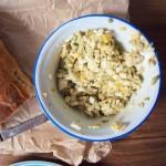 Pasta z jajek i awokado