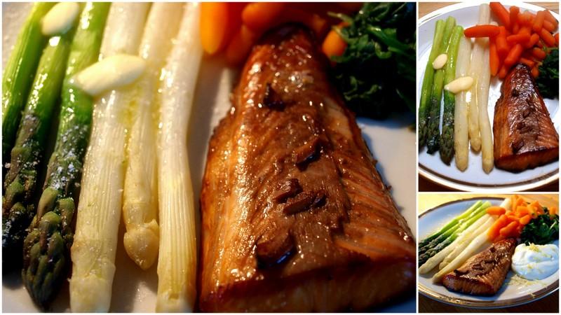 Najprościej, najlżej i najkrócej czyli łosoś z pieca i warzywa z pary