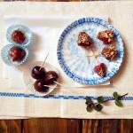 Truskawki w czekoladzie z posypką pistacjową