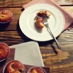 Muffinki cytrynowe z ricottą i malinami