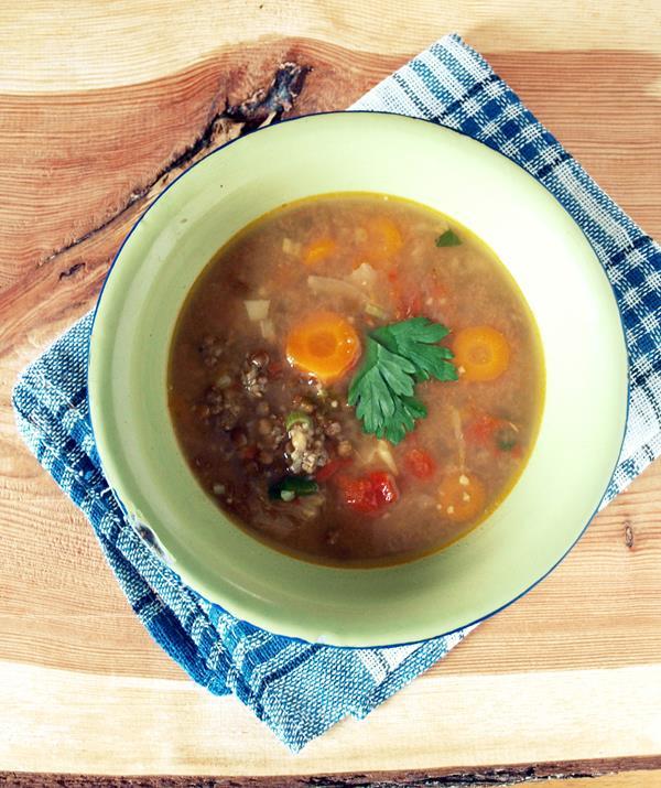 Zupa z soczewicy z wołowiną i aromatem curry
