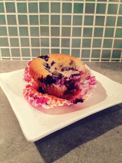 Muffinki wilgotne z ricottą i jagodami