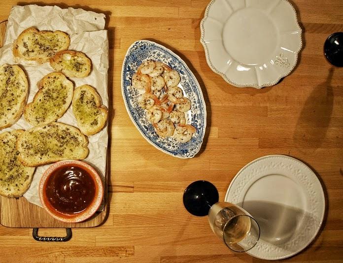 Do piątkowej kolacji prosta przystawka z krewetek
