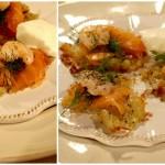 Rösti z wędzonym łososiem/Placki ziemniaczane z wędzonym łososiem
