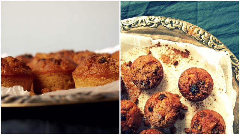 Łatwe szybkie muffinki korzenne (jabłko, pomarańcza, cynamon)
