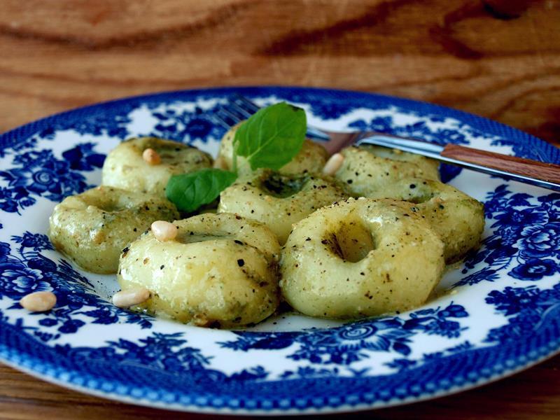 Fusion cuisine czyli Kluski śląskie z pesto