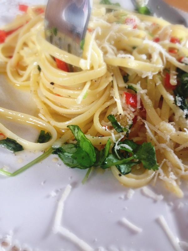 Still obsessed with aglio olio