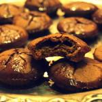 Lekko wytrawne, słodko-gorzkie ciastka kawowe (zdrowe) z kawową glazurą