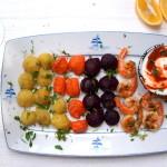 Krewetki z warzywami – proste danie, fancy serwis