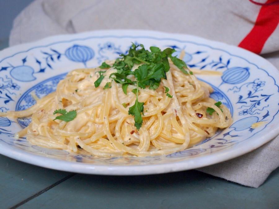 Super kremowe proste spaghetti z chilli