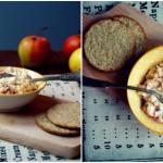 Śniadaniowy twarożek z jabłkami i miodem