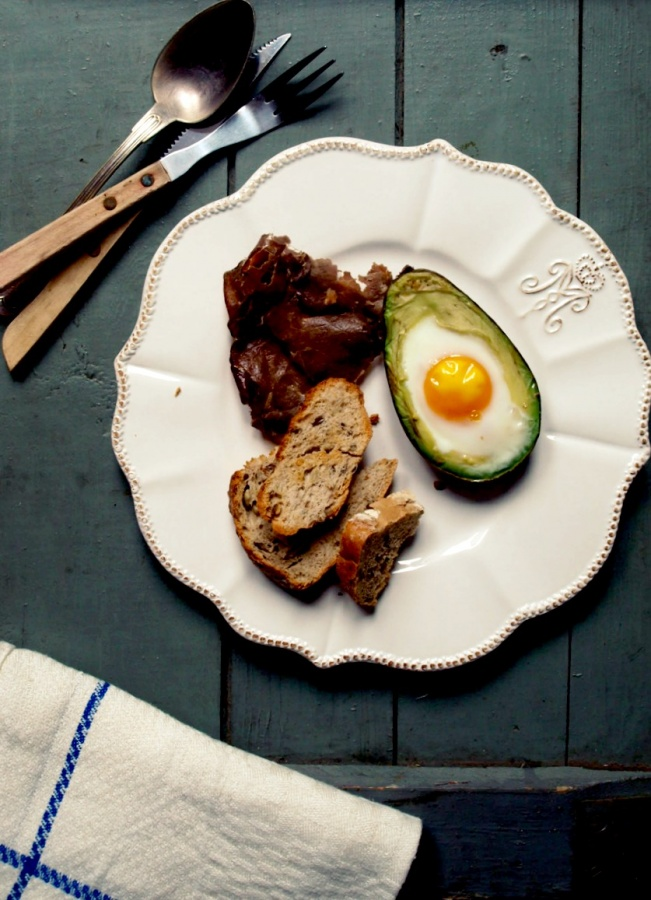 Niemożliwie pyszne jajko pieczone w awokado