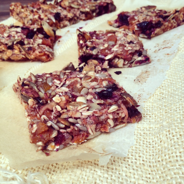 Homemade granola bars - recipe in English