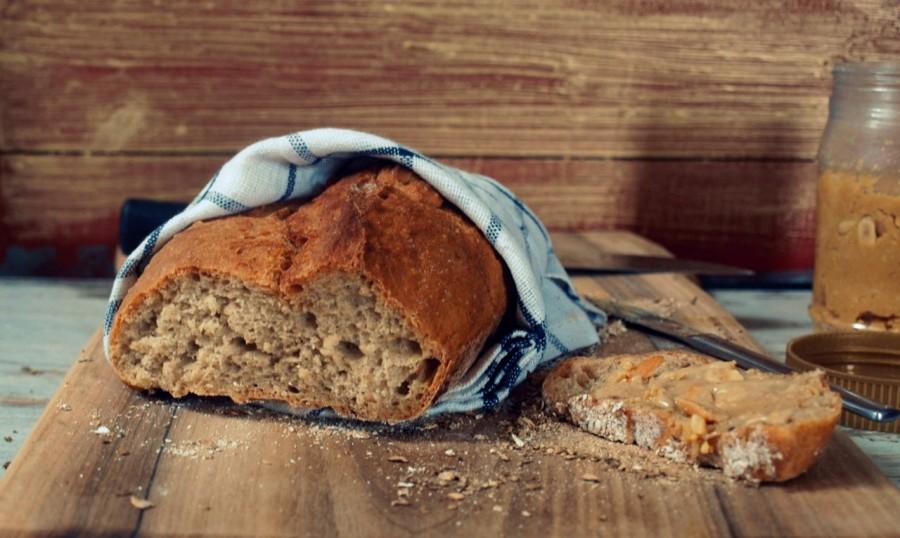 Mój sposób na szybki chleb z mąki pełnoziarnistej pszennej i orkiszowej