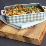 Chantarelle, spinach and courgette frittata – recipe in English