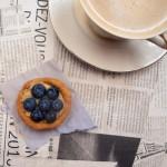 Tartaletki gryczane bez masła z tahiną i borówkami