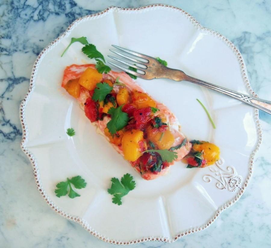 Pieczony łosoś i mango chutney czyli zdrowy wykwintny obiad w 15 minut