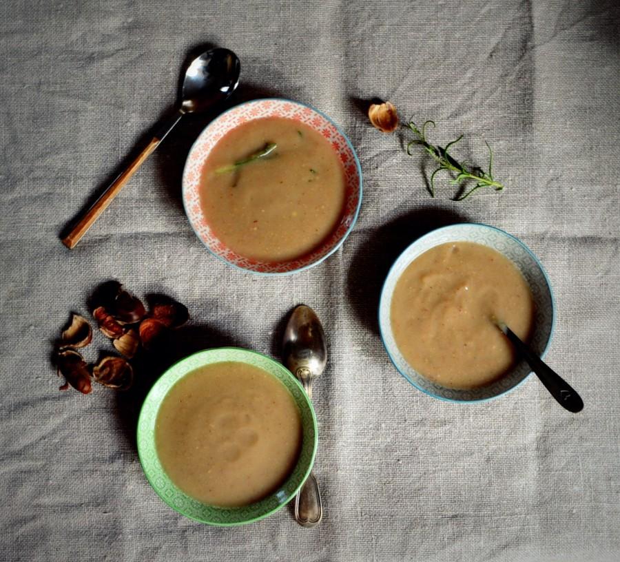 Zupa z pieczonych kasztanów