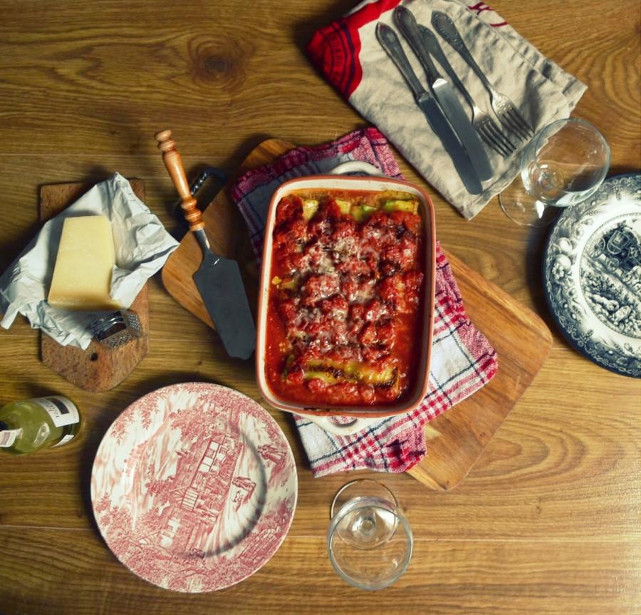 Cannelloni z ricottą i szpinakiem w sosie pomidorowym