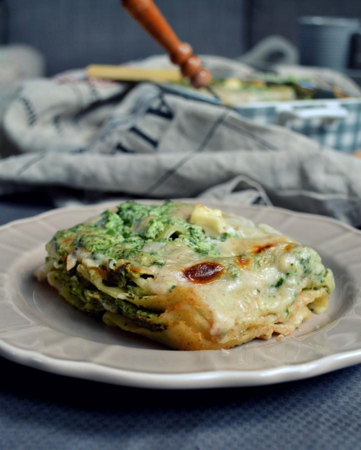 Lasagne z ricottą i szpinakiem step by step