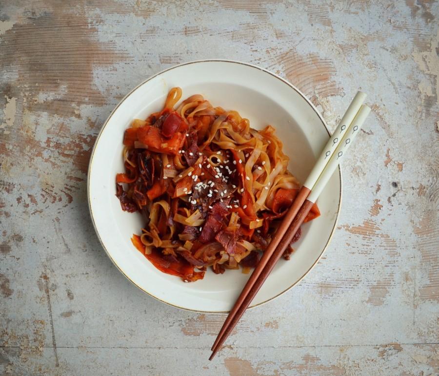 Szybka chińszczyzna z wołowiną