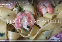 Czosnkowo-ziołowe pappardelle z krewetkami - video